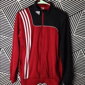 Adidas Zip Up Striped Track Jacket